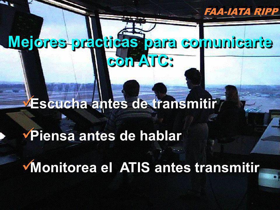 Mejores practicas para comunicarte con ATC: