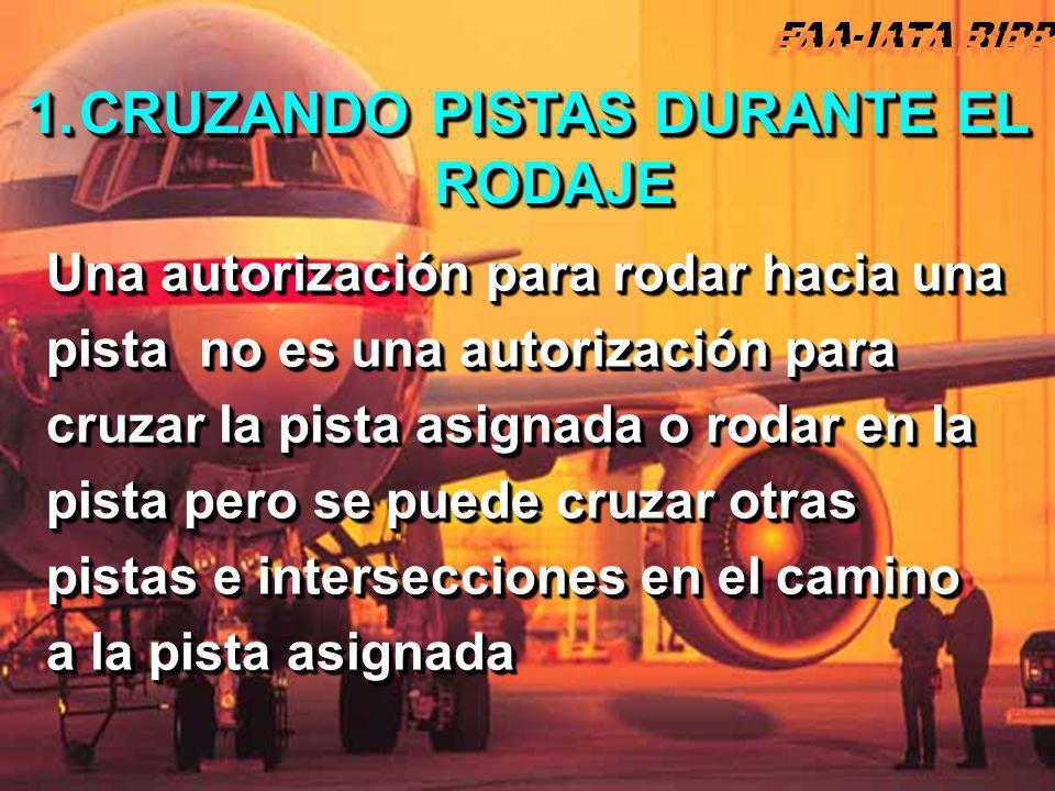 CRUZANDO PISTAS DURANTE EL RODAJE