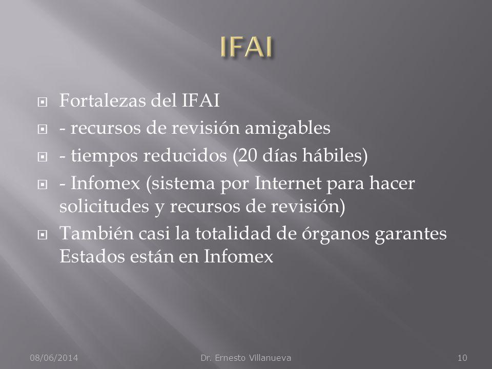IFAI Fortalezas del IFAI - recursos de revisión amigables