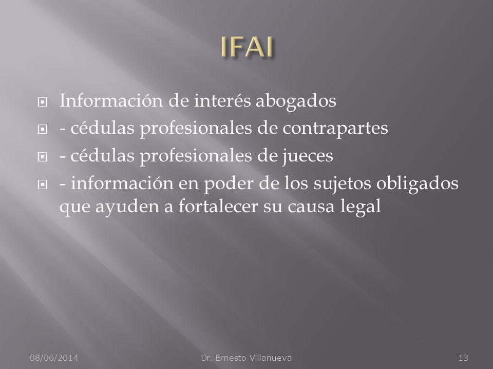 IFAI Información de interés abogados
