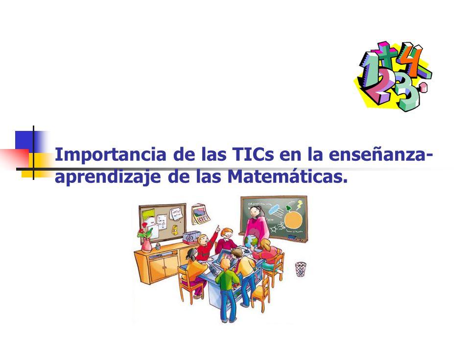 Importancia de las TICs en la enseñanza-aprendizaje de las Matemáticas.