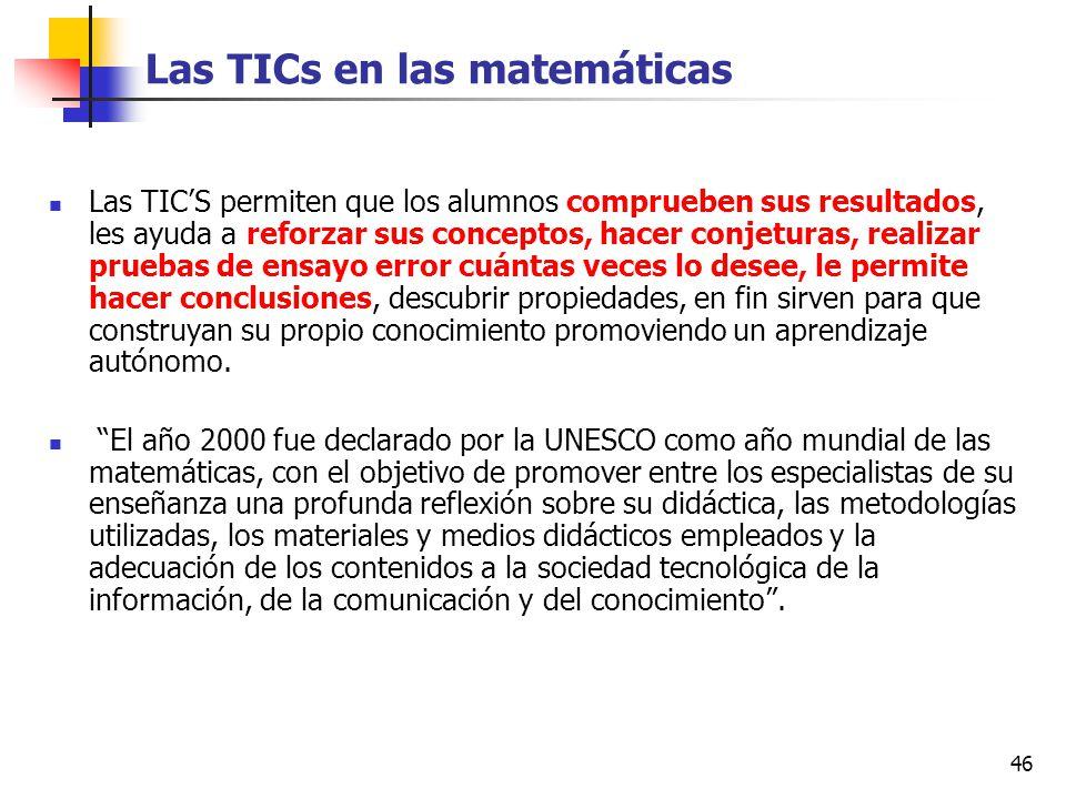 Las TICs en las matemáticas