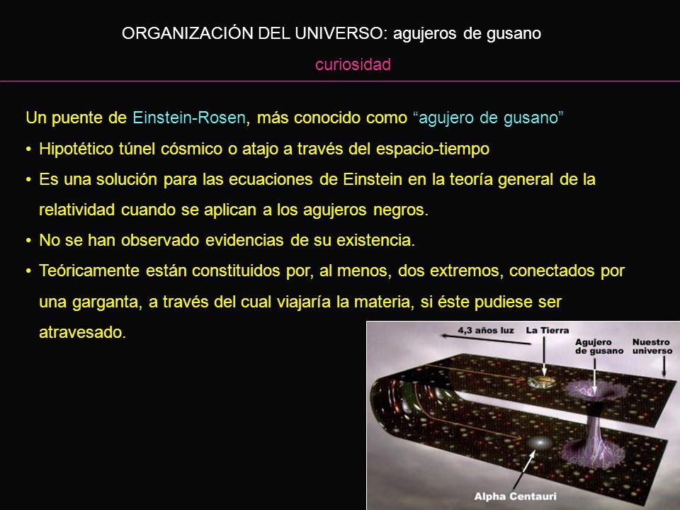 ORGANIZACIÓN DEL UNIVERSO: agujeros de gusano