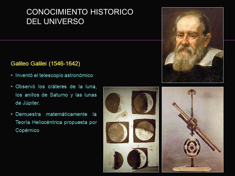 CONOCIMIENTO HISTORICO DEL UNIVERSO
