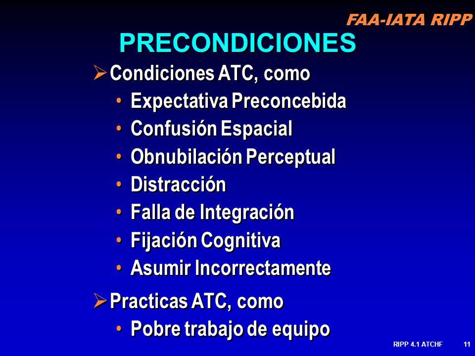 PRECONDICIONES Condiciones ATC, como Expectativa Preconcebida