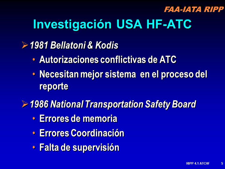 Investigación USA HF-ATC