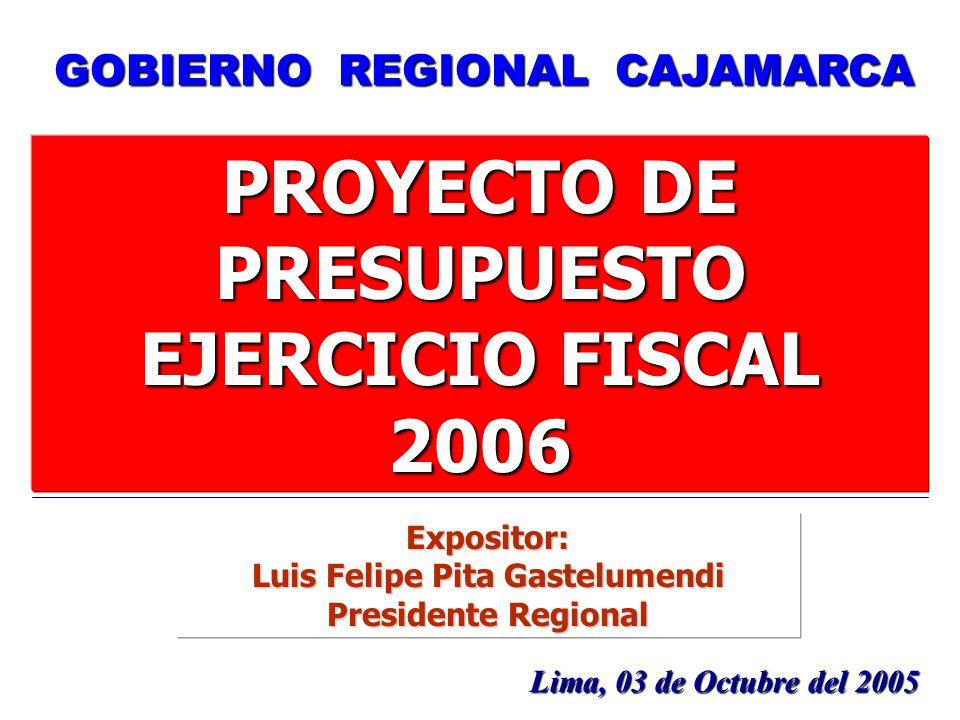 PROYECTO DE PRESUPUESTO Luis Felipe Pita Gastelumendi