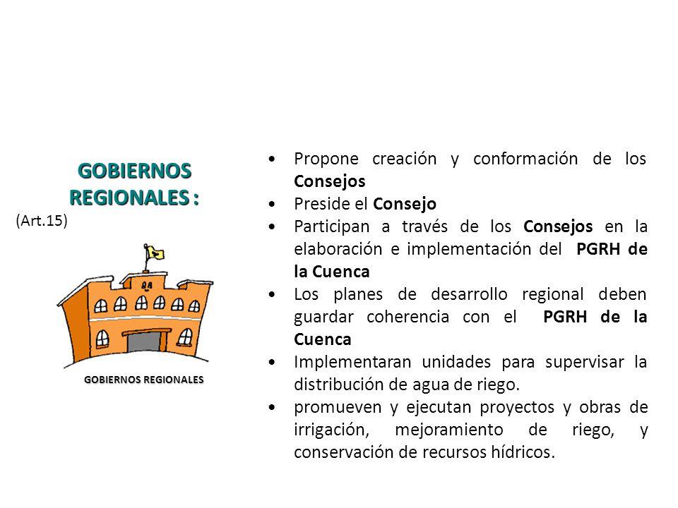 GOBIERNOS REGIONALES :