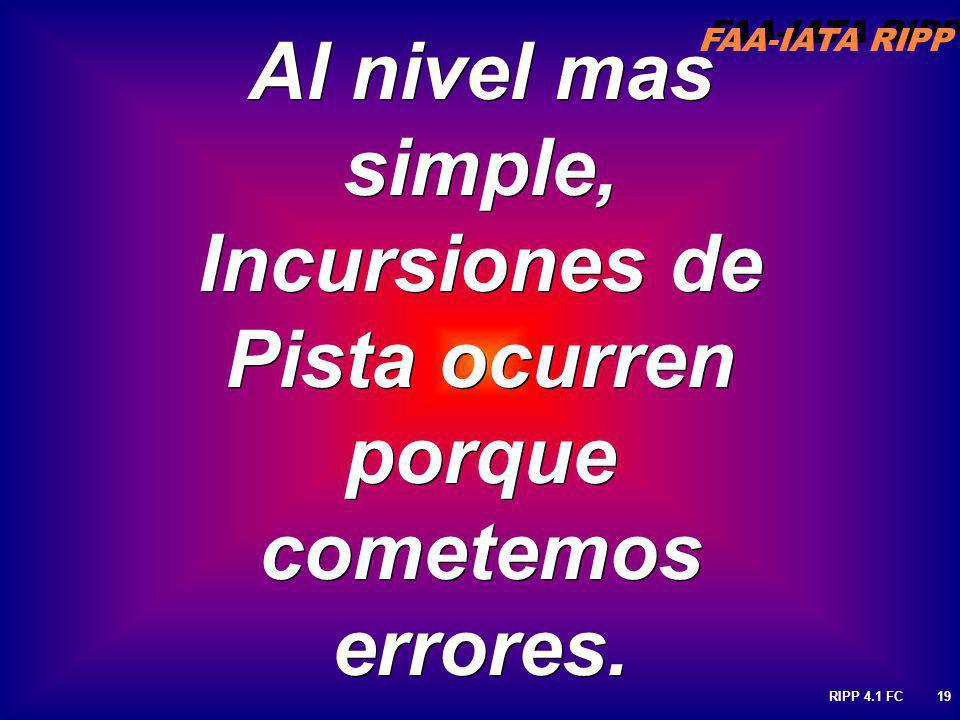 Al nivel mas simple, Incursiones de Pista ocurren porque cometemos errores.
