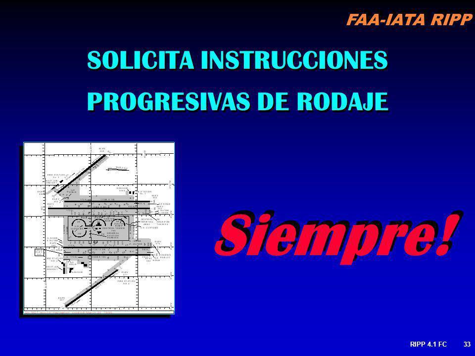 SOLICITA INSTRUCCIONES PROGRESIVAS DE RODAJE