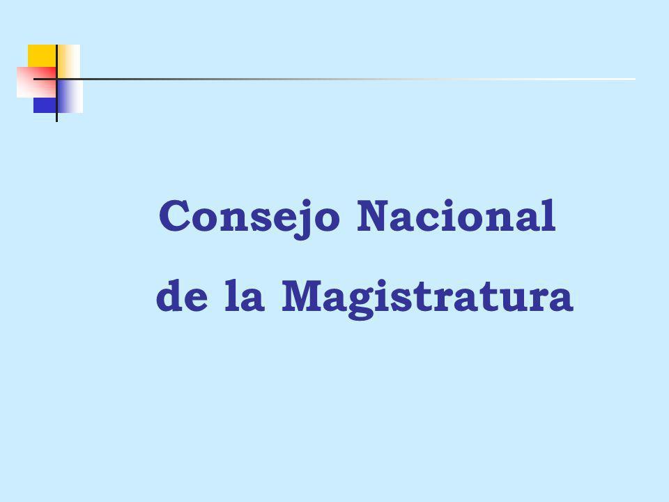 Consejo Nacional de la Magistratura