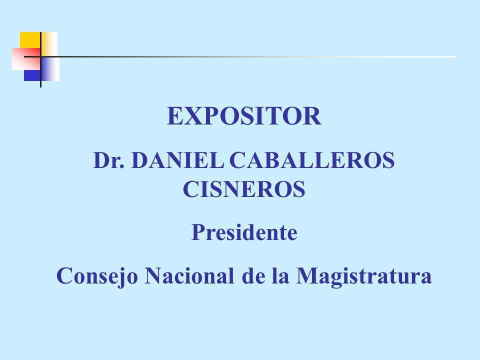 Dr. DANIEL CABALLEROS CISNEROS
