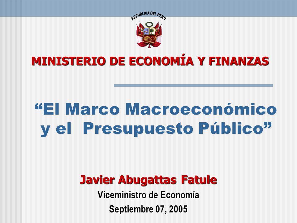 El Marco Macroeconómico y el Presupuesto Público