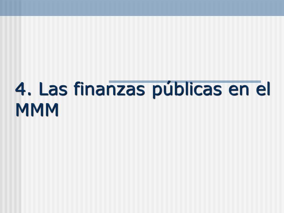 4. Las finanzas públicas en el MMM