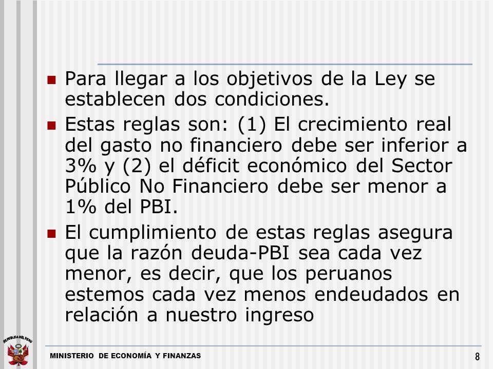 Para llegar a los objetivos de la Ley se establecen dos condiciones.