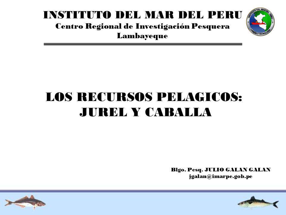 LOS RECURSOS PELAGICOS: JUREL Y CABALLA