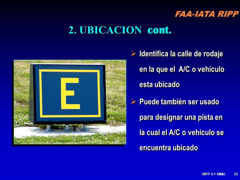 2. UBICACION cont. Identifica la calle de rodaje en la que el A/C o vehículo esta ubicado.