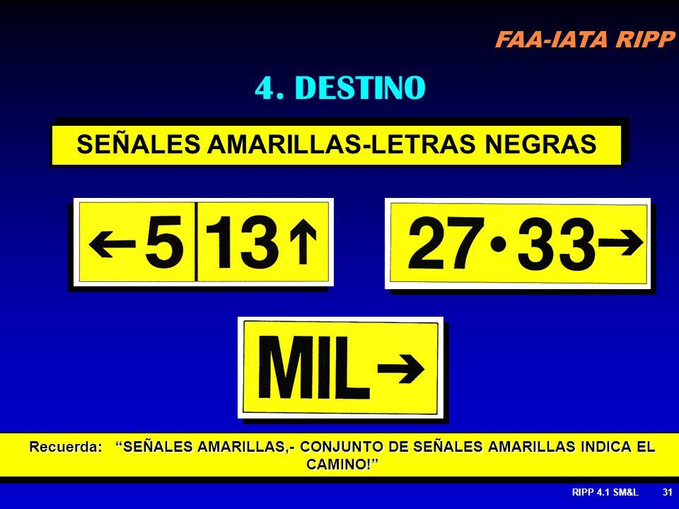SEÑALES AMARILLAS-LETRAS NEGRAS