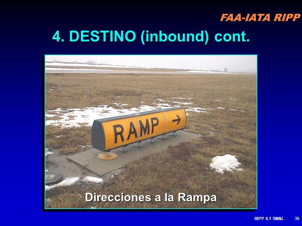 4. DESTINO (inbound) cont.