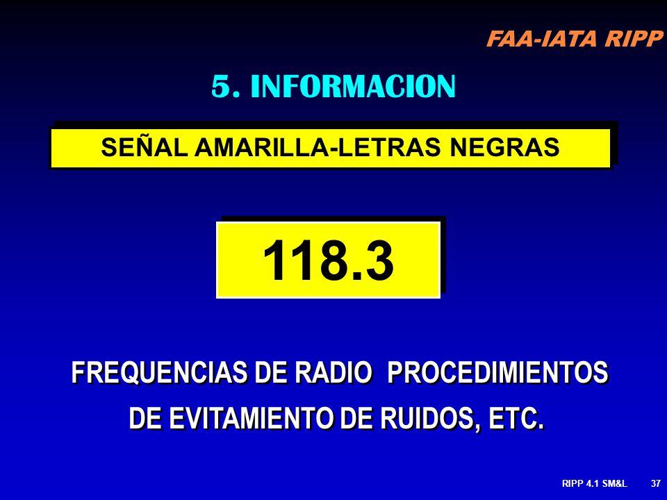 5. INFORMACION SEÑAL AMARILLA-LETRAS NEGRAS. 118.3.