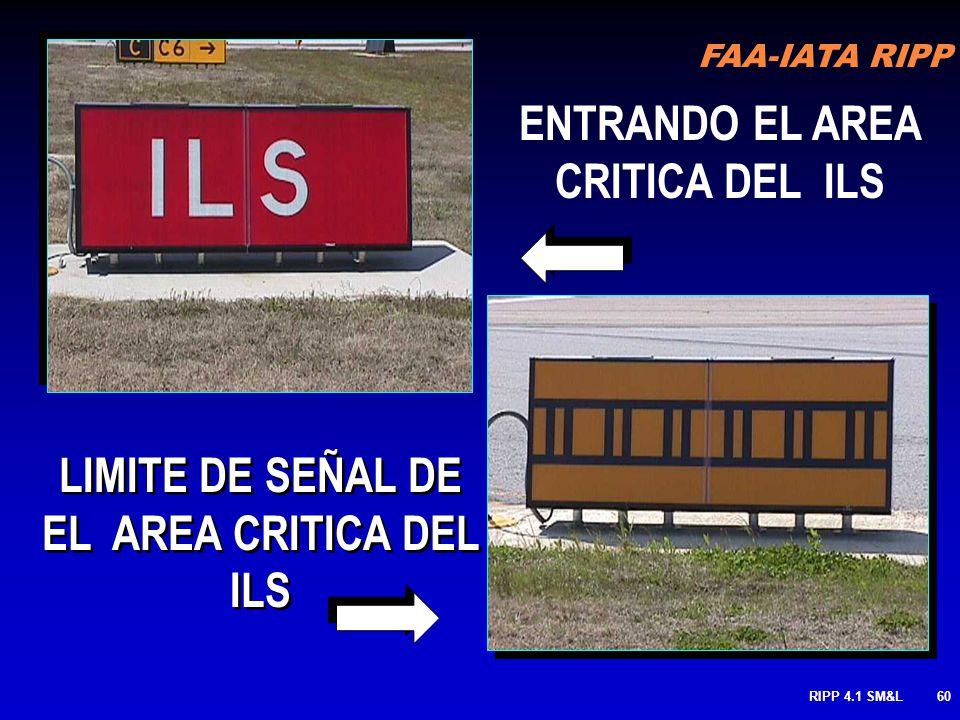 ENTRANDO EL AREA CRITICA DEL ILS