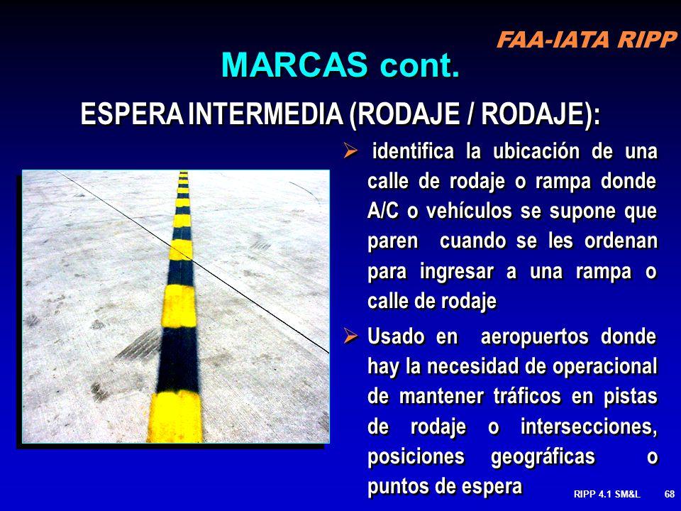 ESPERA INTERMEDIA (RODAJE / RODAJE):