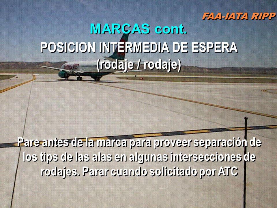 POSICION INTERMEDIA DE ESPERA (rodaje / rodaje)