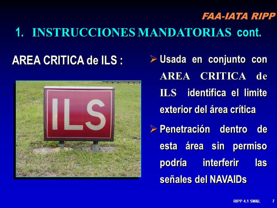 INSTRUCCIONES MANDATORIAS cont.