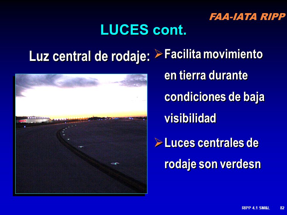 LUCES cont. Luz central de rodaje: