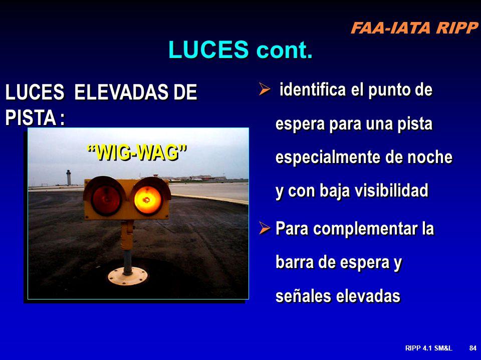 LUCES cont. LUCES ELEVADAS DE PISTA : WIG-WAG