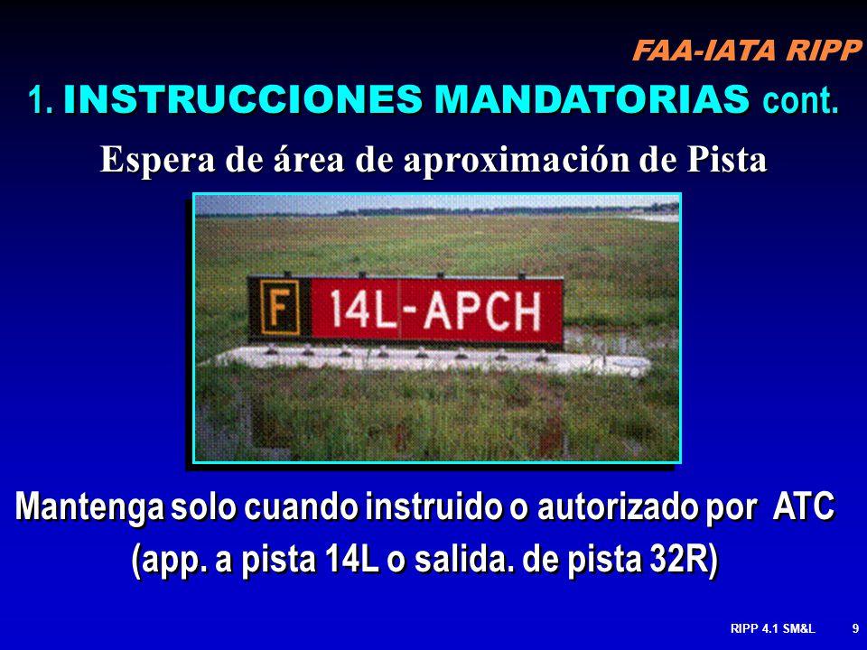 1. INSTRUCCIONES MANDATORIAS cont.