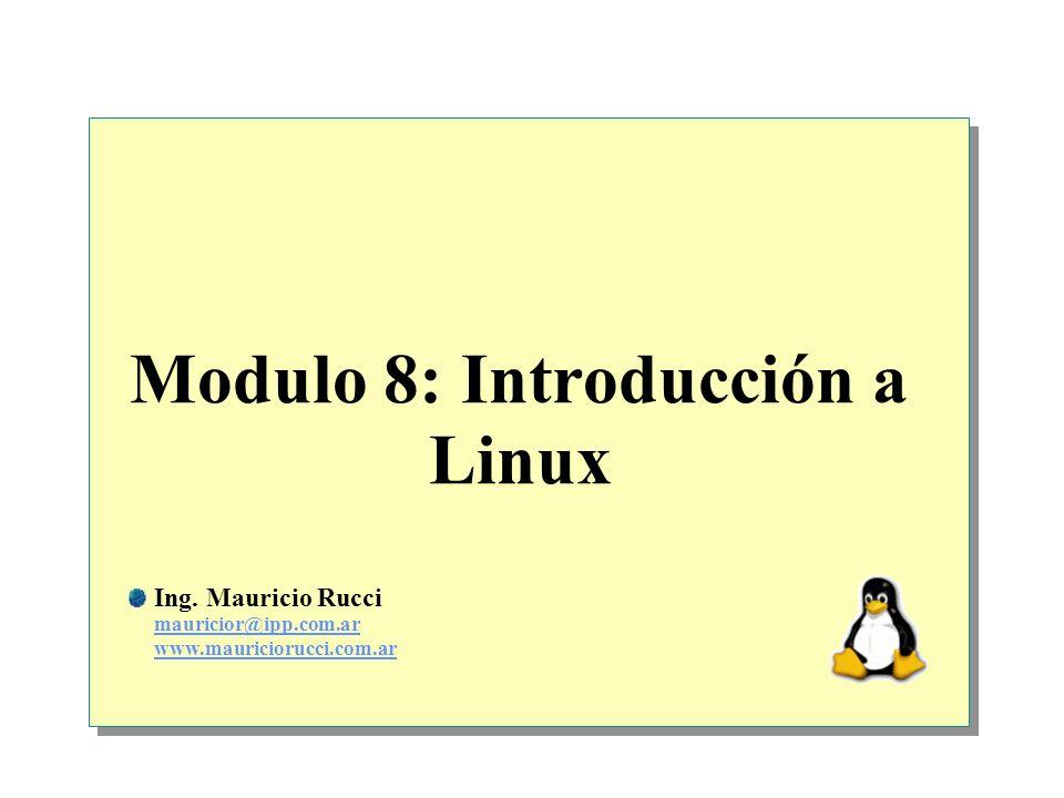 Modulo 8: Introducción a Linux