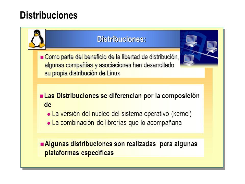 Distribuciones Distribuciones:
