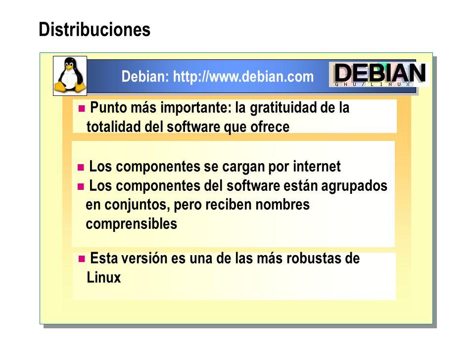 Distribuciones Debian: http://www.debian.com