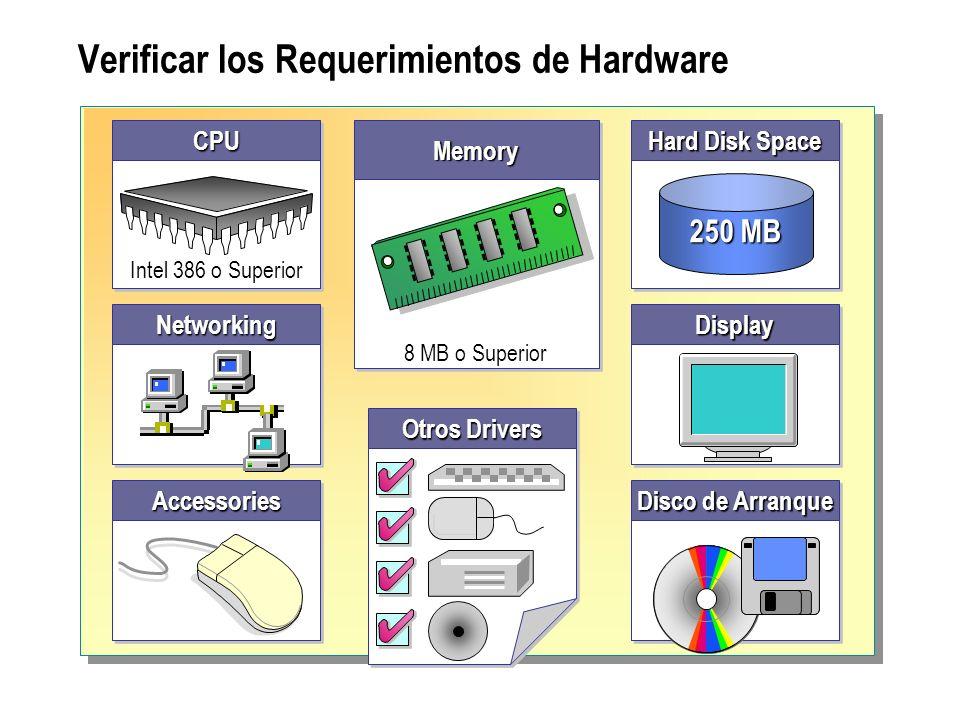 Verificar los Requerimientos de Hardware