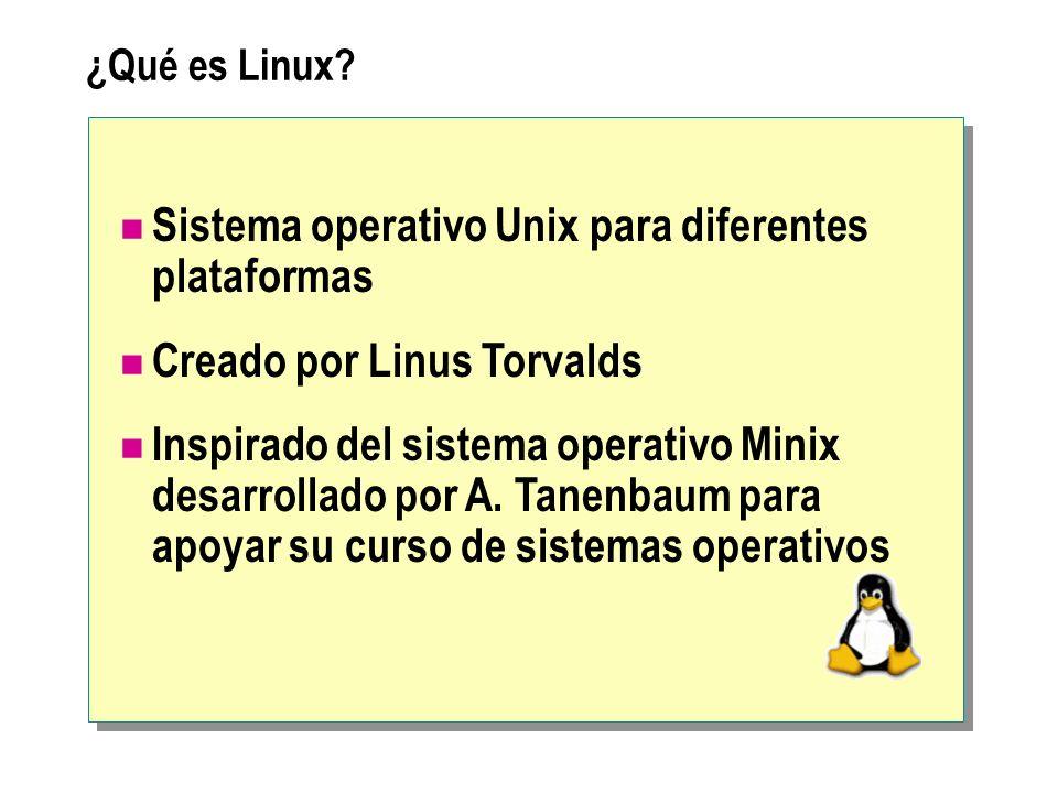 Sistema operativo Unix para diferentes plataformas
