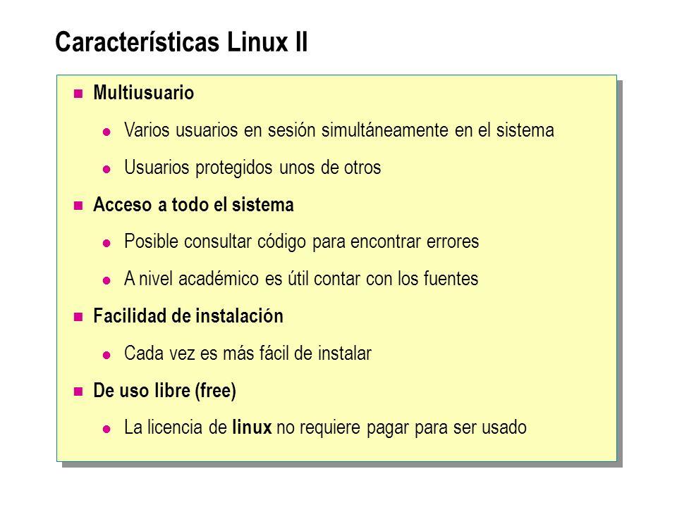 Características Linux II