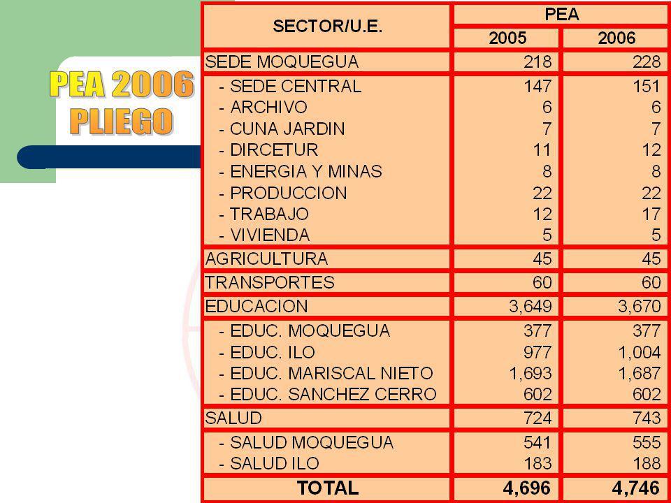 PEA 2006 PLIEGO