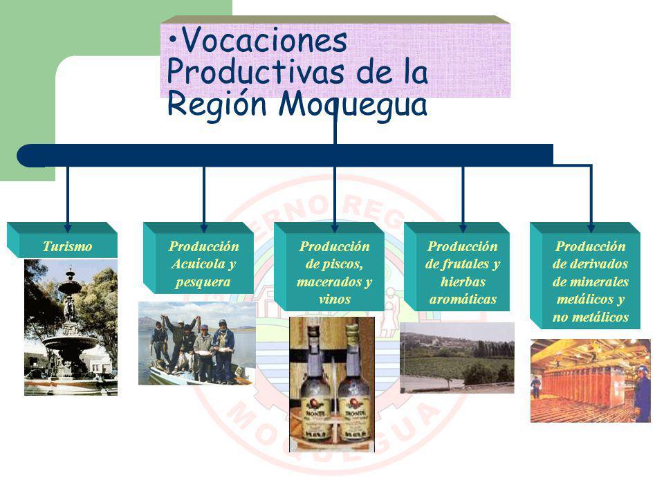 Vocaciones Productivas de la Región Moquegua