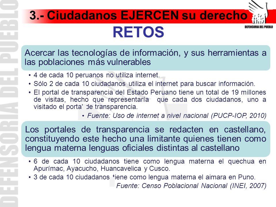 3.- Ciudadanos EJERCEN su derecho RETOS