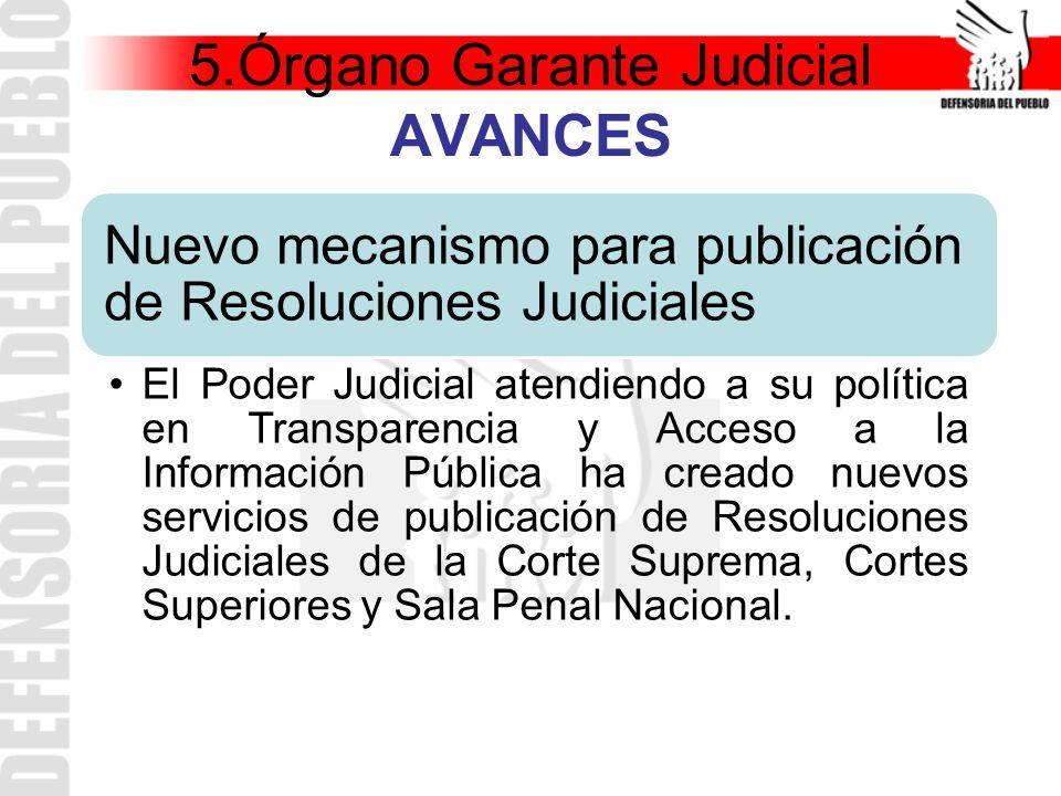 5.Órgano Garante Judicial AVANCES