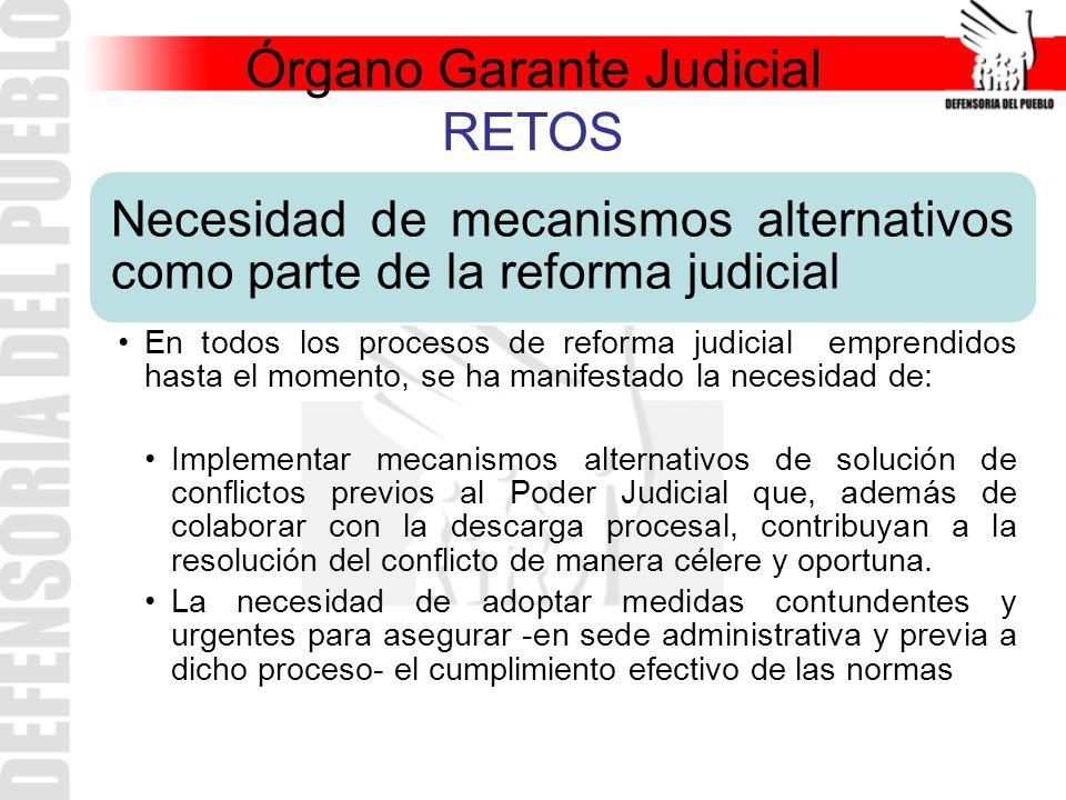 Órgano Garante Judicial RETOS
