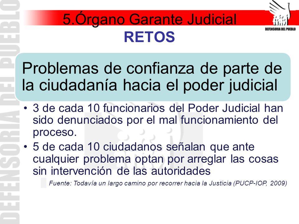 5.Órgano Garante Judicial RETOS