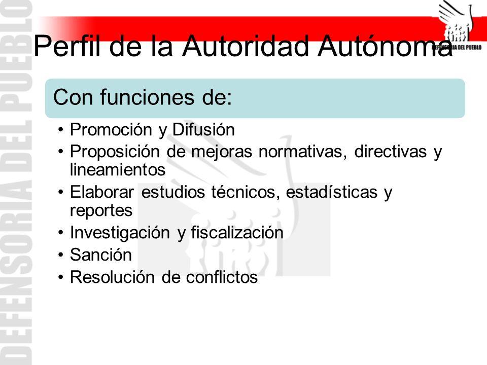 Perfil de la Autoridad Autónoma