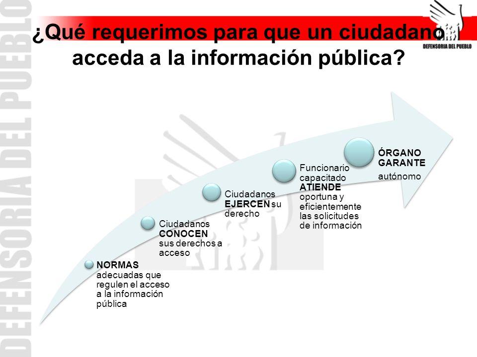 ¿Qué requerimos para que un ciudadano acceda a la información pública