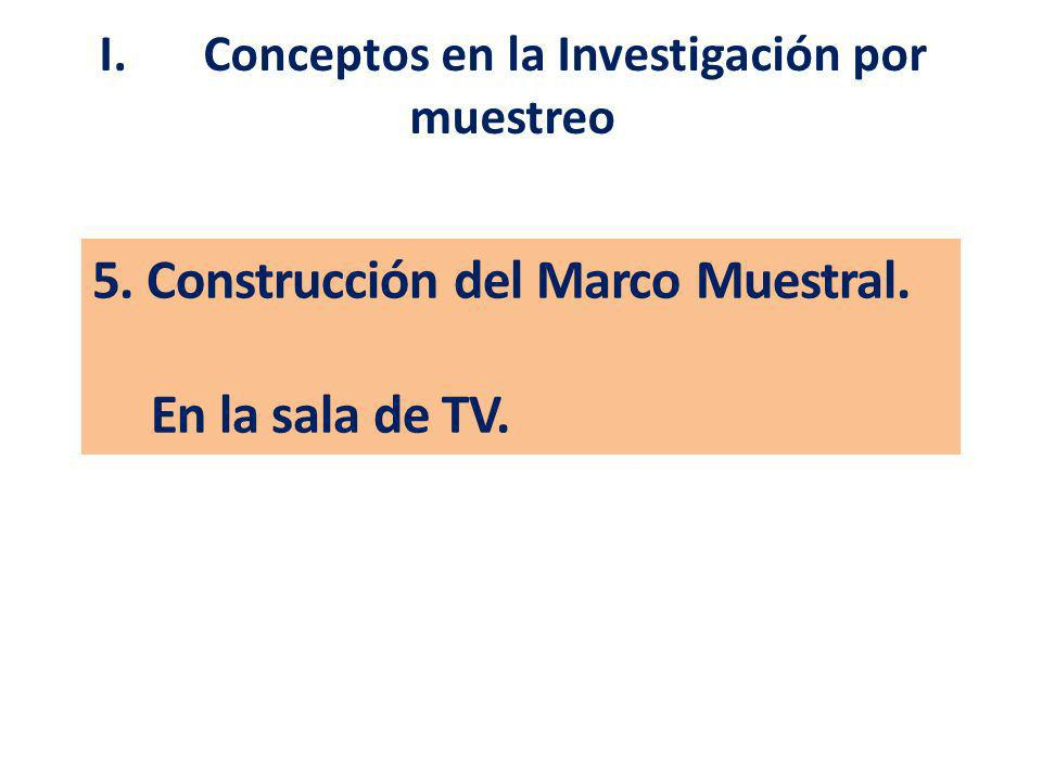 5. Construcción del Marco Muestral. En la sala de TV.