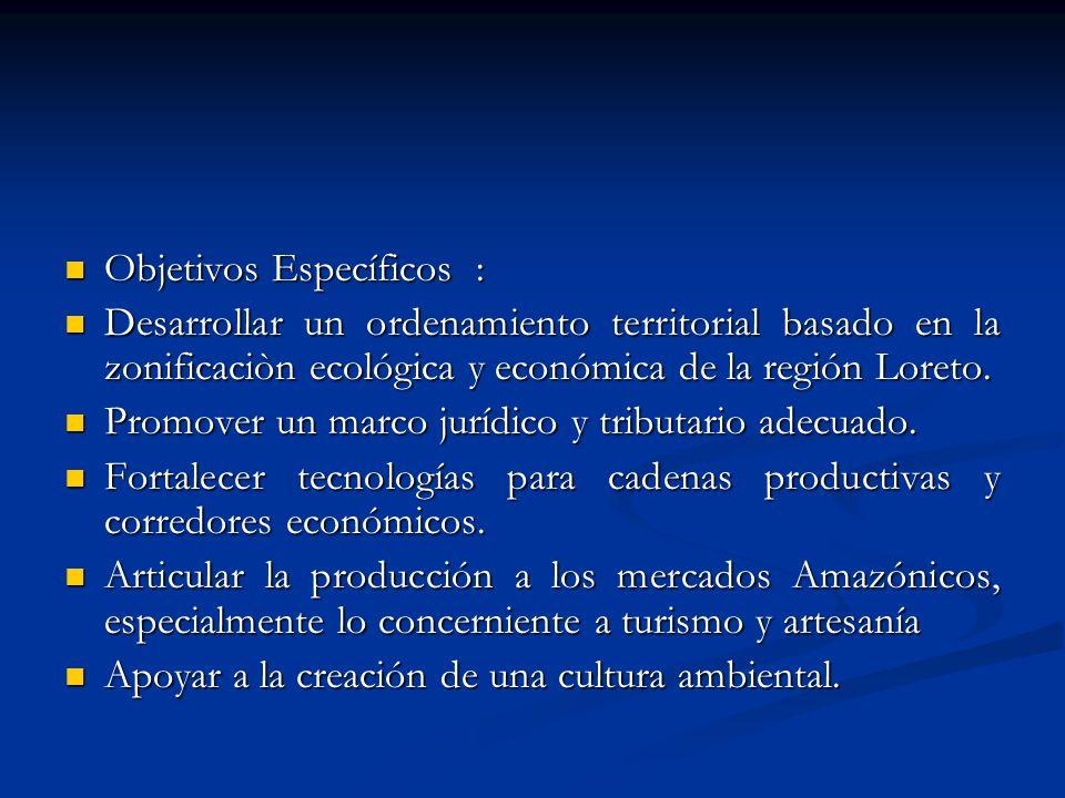 Objetivos Específicos :
