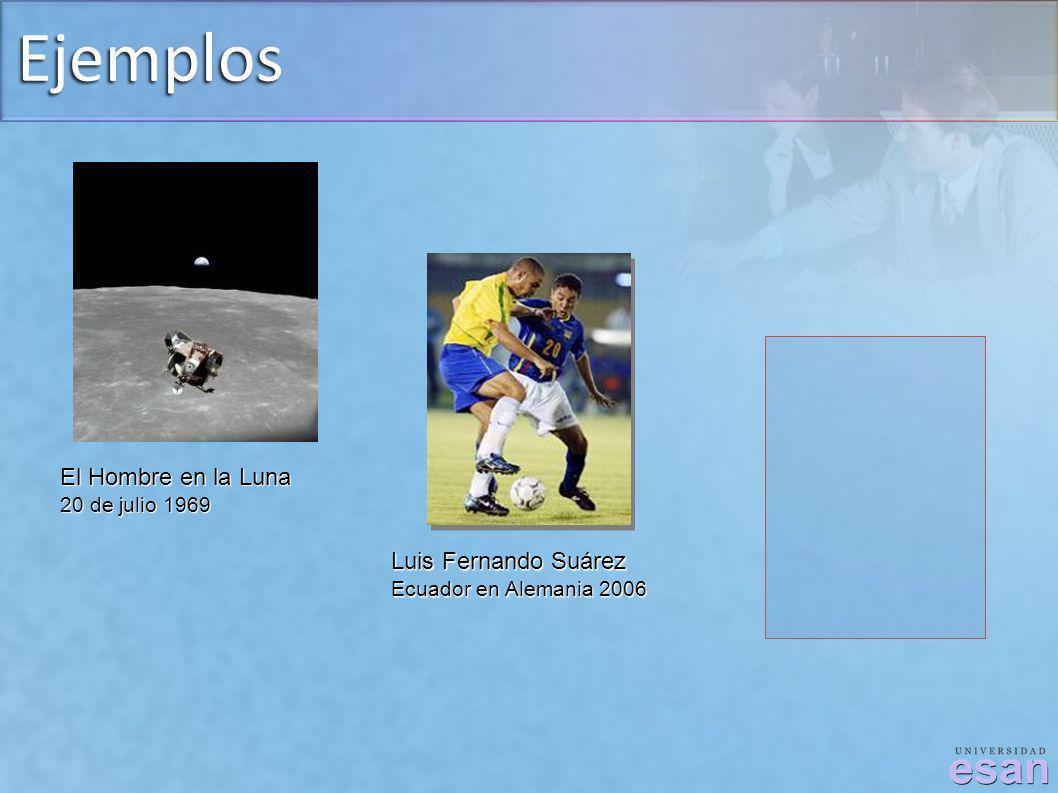 Ejemplos El Hombre en la Luna Luis Fernando Suárez 20 de julio 1969