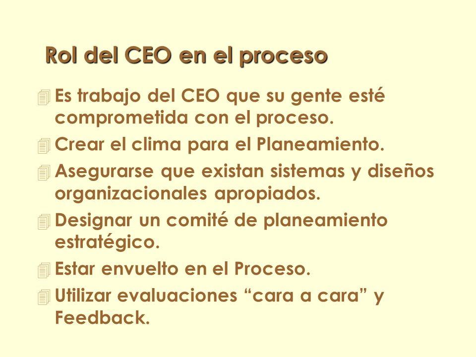 Rol del CEO en el proceso