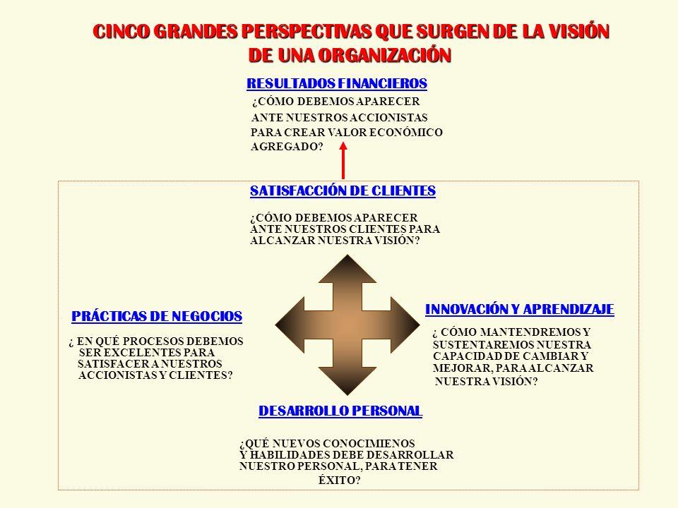 CINCO GRANDES PERSPECTIVAS QUE SURGEN DE LA VISIÓN DE UNA ORGANIZACIÓN